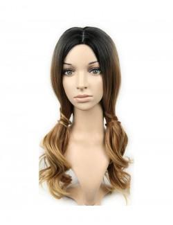 Perruque Blonde Noir 50 cm