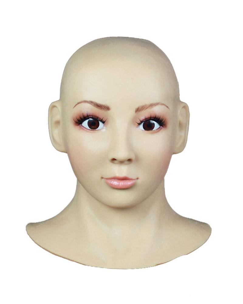 Female Hood Mask Silicone Face Prosthetic