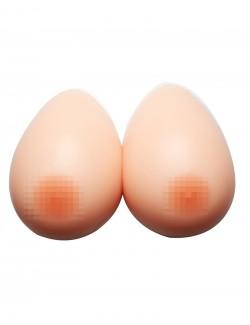 Paire de faux seins en forme de goutte couelur de peau foncé