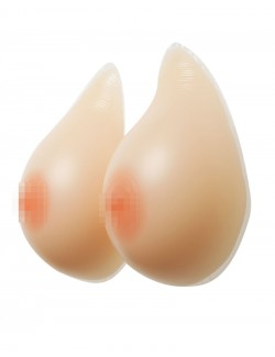 Pair of Silicone Breast Forms Drop Shape