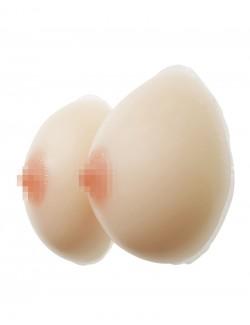 Faux seins silicone forme classique en 2 pièces