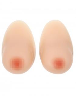 Pair de faux seins 100% silicone forme papaye