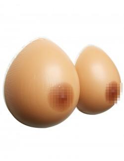 Pair de faux seins 100% silicone forme classique