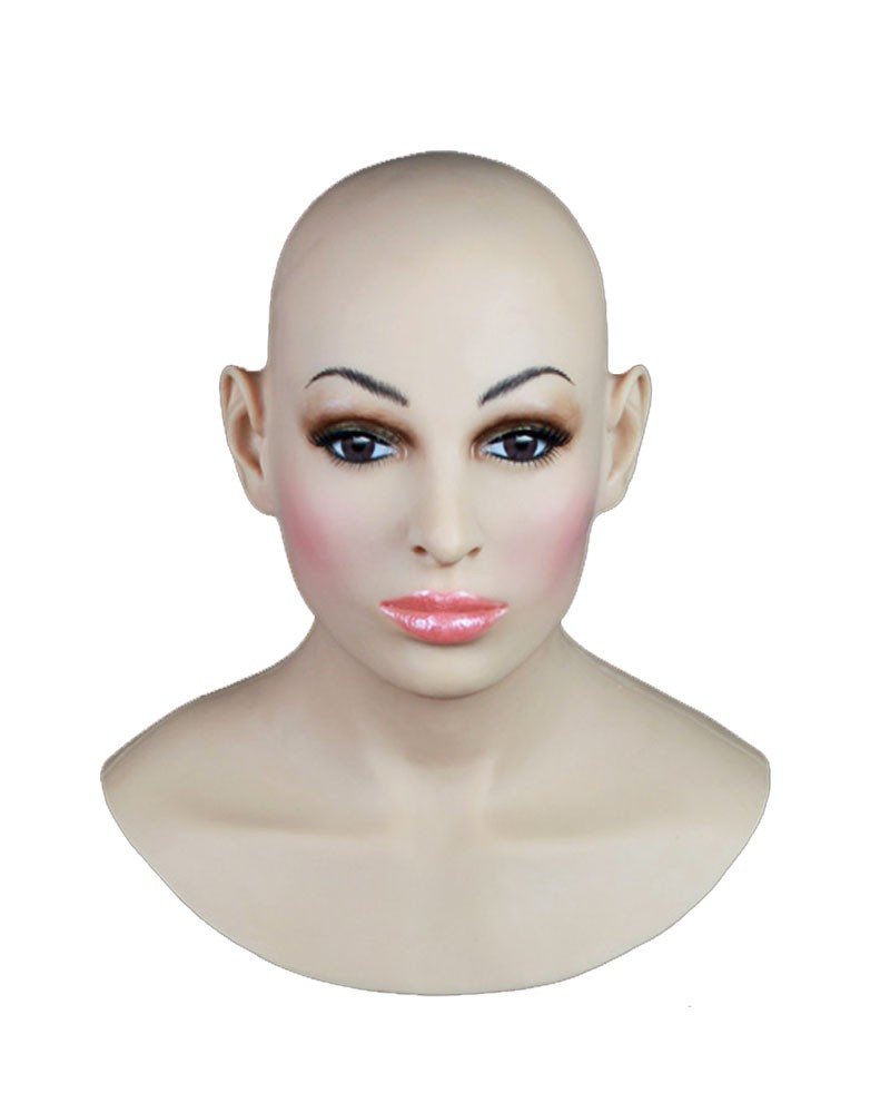 Female Hood Mask Silicone Face Prosthetic Disguise