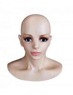 Cagoule Masque Silicone female Prothèse Visage Déguisement