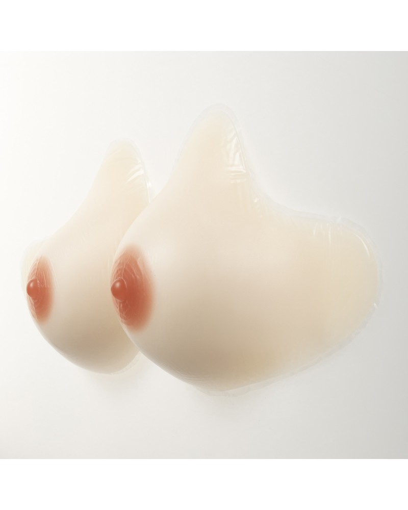 Post mastectomy breast prosthesis white skin color
