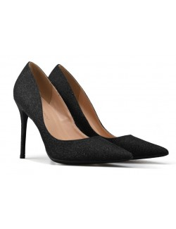 Escarpins noir pointus stilettos sequins