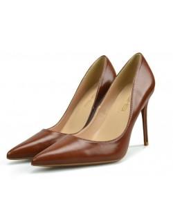 Marron mat chaussure talon pointus plus taille