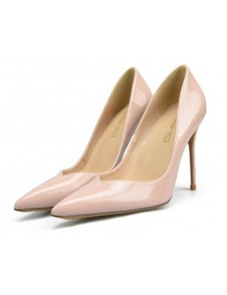 Off-white sexy pointy toe heel pumps V cut