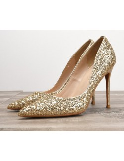 Gold sparkly shoes heels for prom