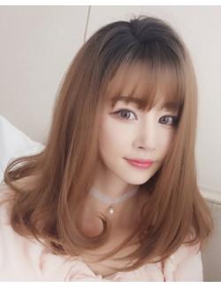 Medium length blonde wigs