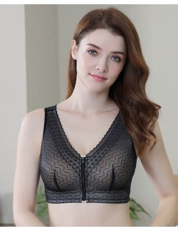 Seductive Lace and Mesh Bralette&Silicone Breast Forms