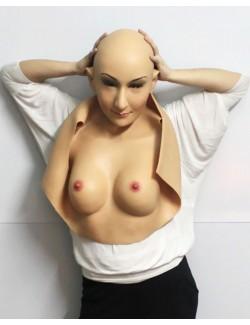Masque Femme Avec Poitrine et Torse Silicone