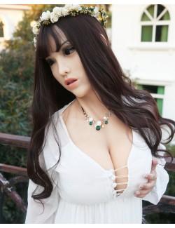 Silicone Female Mask With Torso Breast