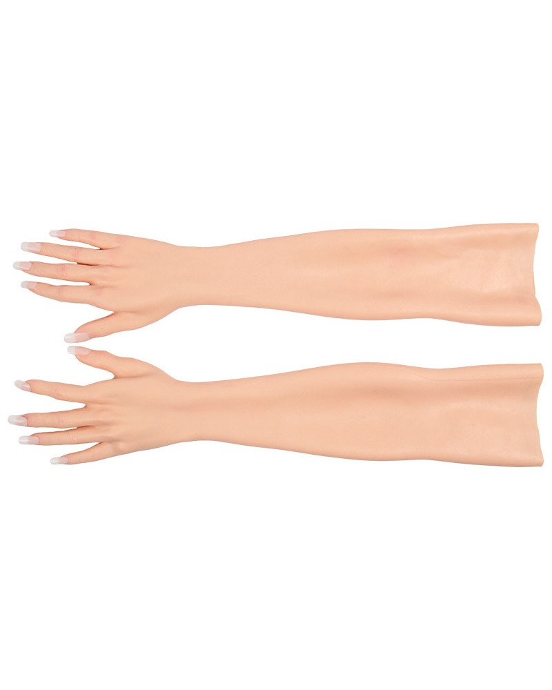 Wearable female hands gloves silicone MTF