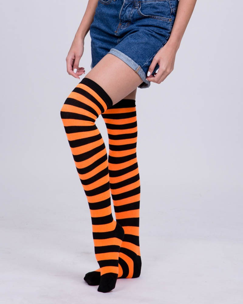 Black&Orange Stripes Stockings
