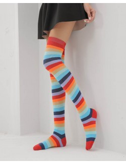 Multi Colors Knee High Socks