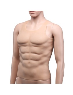 Middle skin male chest silicone muscle cosplay props vest