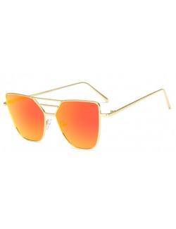 Red lenses retro frame sunglasses