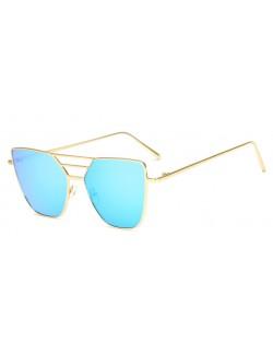 Blue lenses retro frame sunglasses