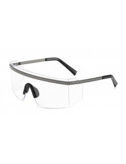 Unisex square goggle transparent lens retro brand designer