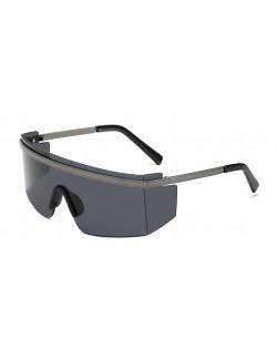 Lunettes goggle carrées unisexes lentille transparente designer