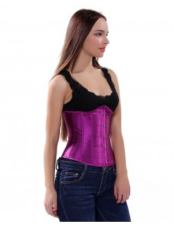 Purple Color Retro Palace Underbust Corset Waist Trainer