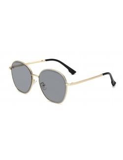 Round square designer sunglasses metal frame multicolor lenses