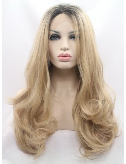 Front lace wig curly long wig