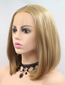 Lace front bob synthetic wigs