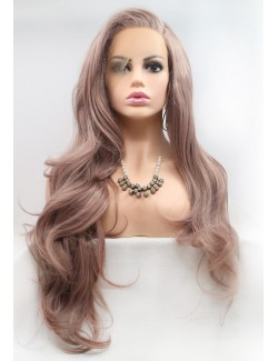 Affordable front lace light color long wig