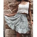 Women's Summer High-waist A-line Beach Mini Skirt