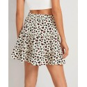 White High-Waist A-Line Smocked Tiered Skirt