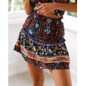 Romantic Bohemian High Waist A-Line Ruffles Skirt