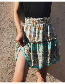 Women Floral Print Bohemian Mini Casual Skirt
