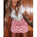 Pink Short Satin Skirt