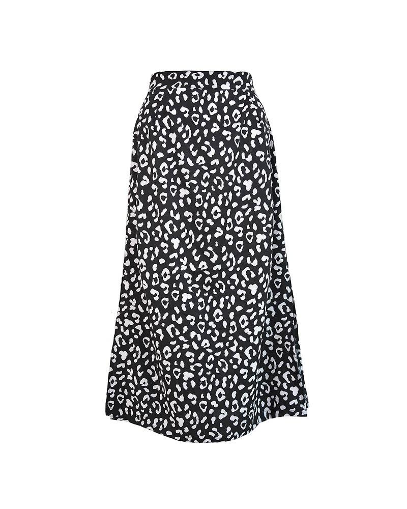 Animal Printed Maxi Skirt