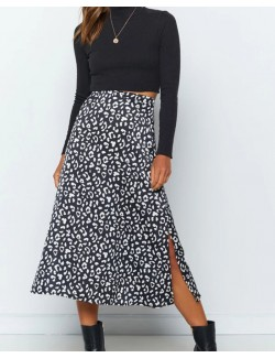 Animal Printed Maxi Skirt