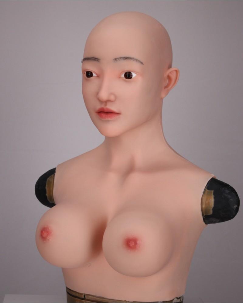 Sophia lifelike silicone mask breastplate integral