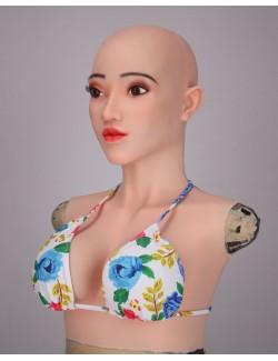 Elsa silicone breastplate mask lifelike