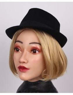 Visage Elsa cagoule masque silicone déguisement