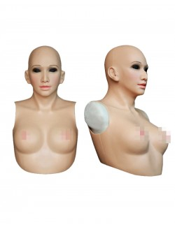 Silicone Female Mask With Torso Breast