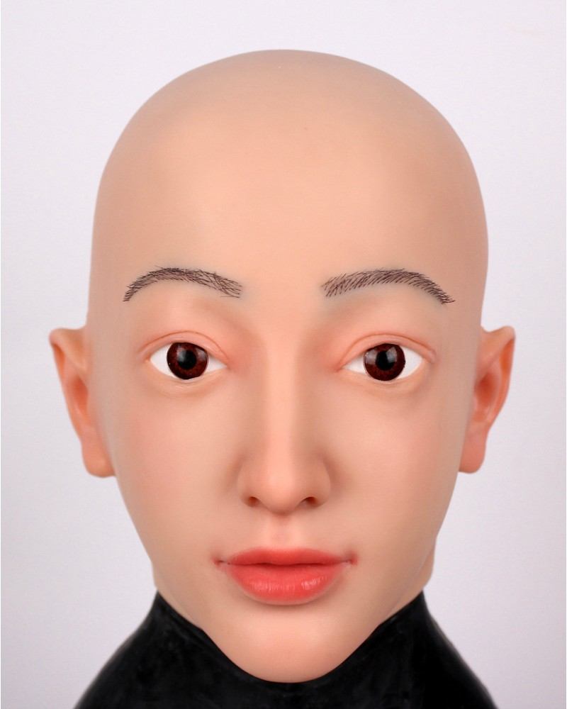 Nora's face mask silicone wig makeup