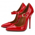 Stiletto shoes pointed toe heels pumps plus size