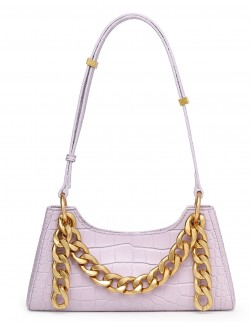 Trendy luxury handbag cowhide golden chain
