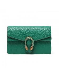Petit sac vert émeraude tendance 2020 mini chaîne sacs à main en cuir
