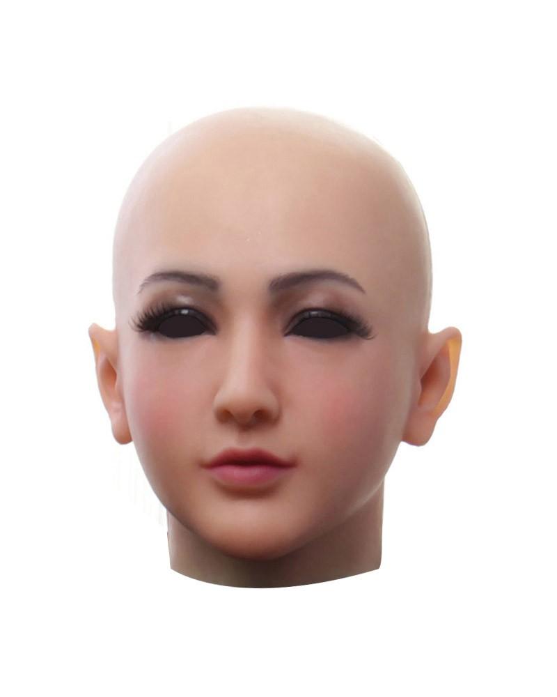Cagoule Masque Silicone Female Visage Déguisement