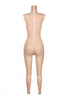 Female body suit sleeveless D cup breast vagina