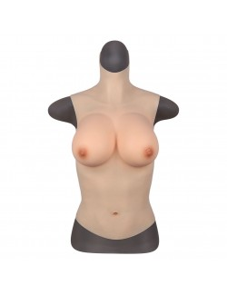 34-48 D cup high collar silicone breast forms