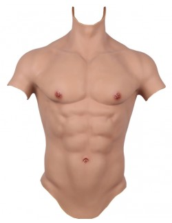 Sexy muscle design 3d men high collar silicone T shirts